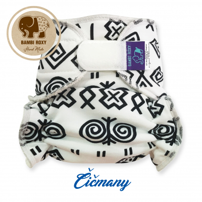 Cloth Bamboo Nappy One-size (velcro) - Čičmany 1-BRZ-Z-022