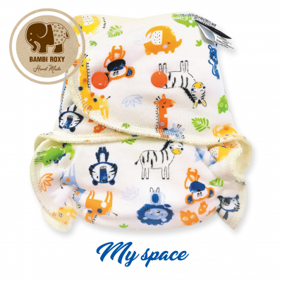 Cloth Bamboo Nappy One-size (Snap) - My space BRP114