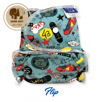 Cloth Bamboo Nappy One-size (snap) - Flip BRP117
