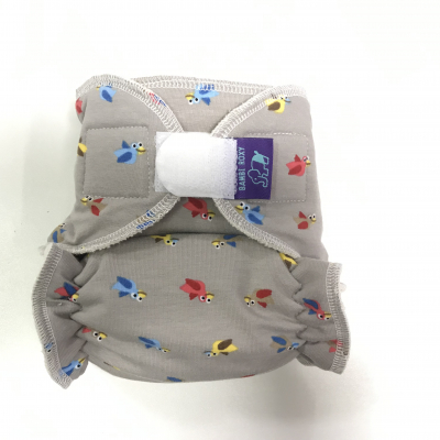 Cloth diaper 1-size - Birds on vanilla BRP55