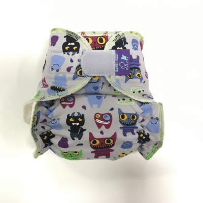 Cloth diaper 1-size - Monsters on grey BRP91