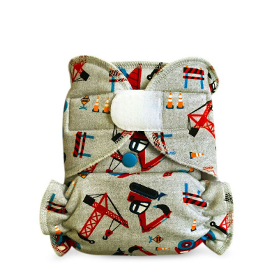 Cloth diaper 1-size - Truck on grey BRZ32