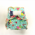 Cloth Bamboo Nappy One-size (velcro) - Butterflies on green BRZ1-S0111