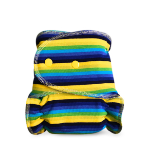 Cloth diaper 1-size - Dark green stripes BRP71